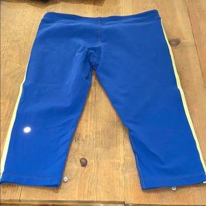 Lululemon blue Capri workout pants size 12